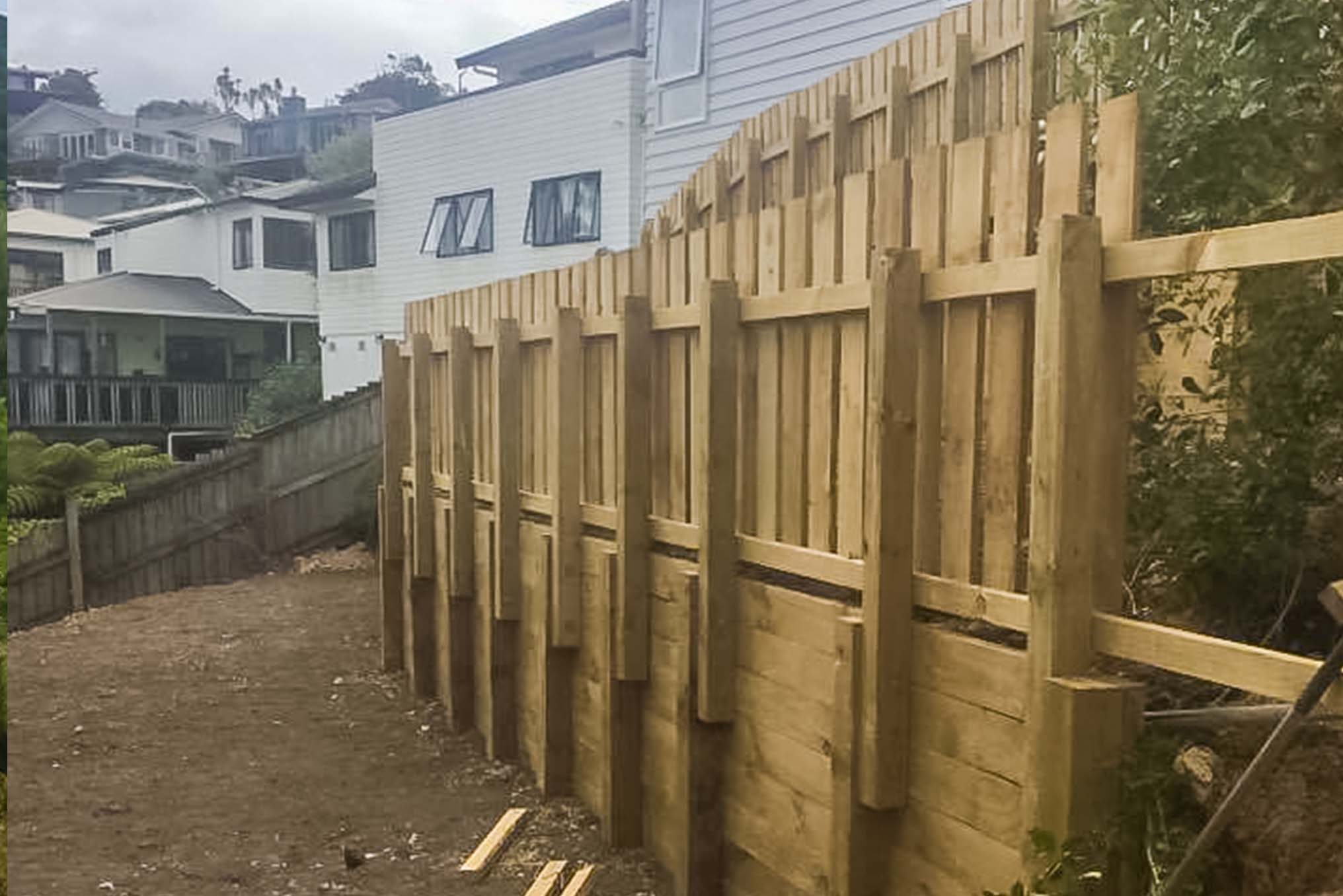NE construction retaining wall north shore builders